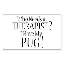 THERAPIST Pug Decal