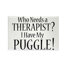 THERAPIST Puggle Rectangle Magnet