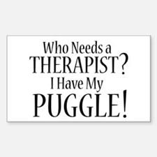 THERAPIST Puggle Decal