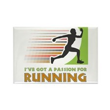 Passion for Running Rectangle Magnet