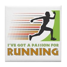 Passion for Running Tile Coaster
