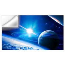 A view of a planet as it looms in close orbit Wall Decal