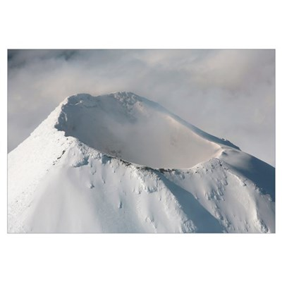 Aerial view of summit of Shishaldin Volcano, Unima Canvas Art