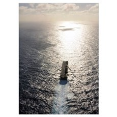 Amphibious assault ship USS Boxer underway in the  Poster