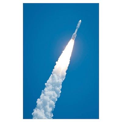 An Atlast V rocket carrying the Juno spacecraft du Poster