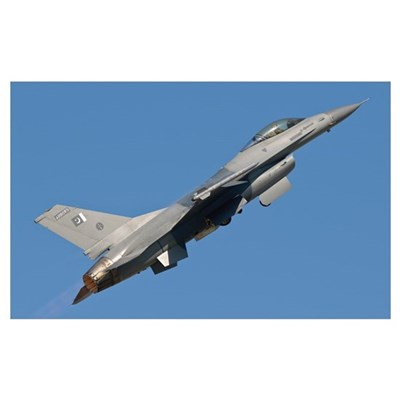 An F-16 of the Pakistan Air Force Framed Print