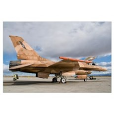 An F-16A Fighting Falcon of the famous US Navy TOP Poster