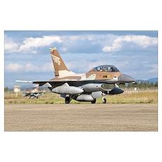 An F-16B NETZ of the Israeli Air Force Poster