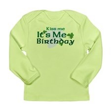 Kiss Me Irish Birthday Long Sleeve Infant T-Shirt