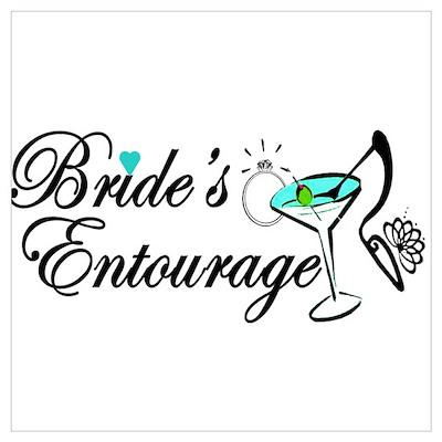 BRIDE'S ENTOURAGE Wall Art Poster