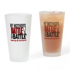 My Battle Too Brain Cancer Drinking Glass