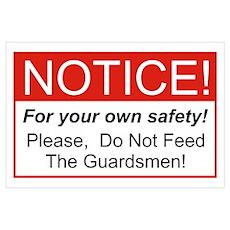 Notice / Guardsmen Wall Art Poster