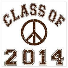 Class Of 2014 Peace Wall Art Poster