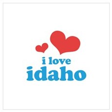 I Love Idaho Wall Art Poster