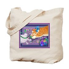 April Cat in the Act tote bag