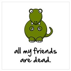 Dinosaur Friends Dead Wall Art Canvas Art