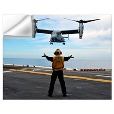 An MV-22 Osprey tiltrotor aircraft approaches the  Wall Decal