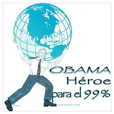 Obama,Heroe para 99% Wall Art Poster
