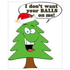 Funny Merry Christmas tree Wall Art Framed Print