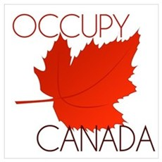 Occupy Canada Wall Art Poster