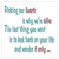 Castle: Risking our Hearts Wall Art Framed Print