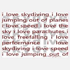 I love Skydiving Wall Art