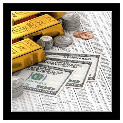 Stocks and currency Wall Art Poster