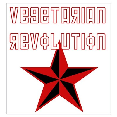 Vegetarian Revolution Wall Art Framed Print