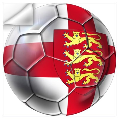 Three Lions Football Wall Art Wall Decal