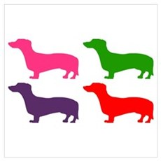 Pop Doxie II Wall Art Canvas Art