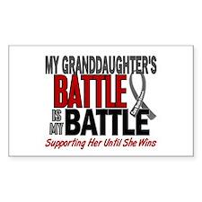 My Battle Too Brain Cancer Stickers