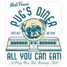 Pug's Diner Wall Art Poster