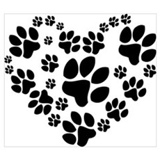Paws Heart Wall Art Canvas Art