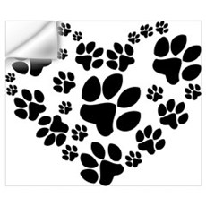Paws Heart Wall Art Wall Decal