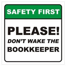 Bookkeeper / Wake Wall Art Poster