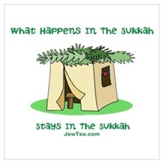 Sukkah Happenings Wall Art Poster