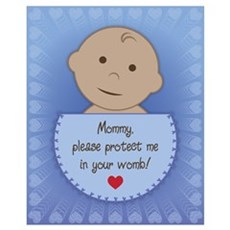 Pro Life Ethnic Baby Boy Wall Art Poster