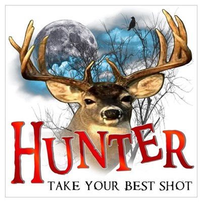 Hunter take your best shot De Wall Art Framed Print