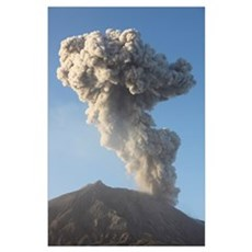 Ash cloud following explosive Vulcanian eruption,  Poster