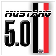 Mustang 5.0 BWR Wall Art Poster