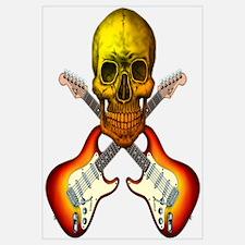 Skull & Guitar Wall Art