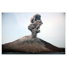 Ash cloud from vulcanian eruption of Anak Krakatau Poster