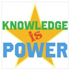 Knowledge is Power Wall Art Poster