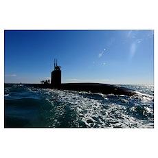 Attack submarine USS Scranton pulls into Augusta B Poster