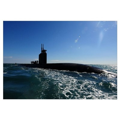 Attack submarine USS Scranton pulls into Augusta B Canvas Art