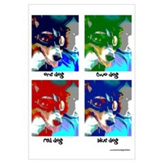 One Dog Two Dog Wall Art Canvas Art