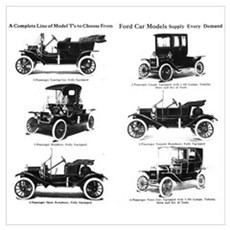 Ford Model T - 1911 Ad Wall Art Poster