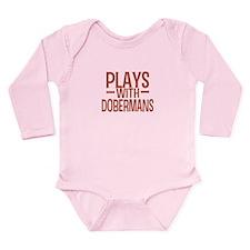 PLAYS Dobermans Long Sleeve Infant Bodysuit