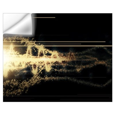 Burst of energy forms into powerful beam of light Wall Decal