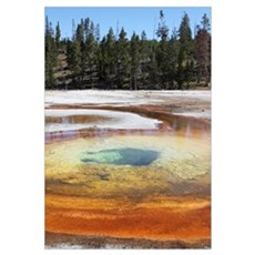 Chromatic Pool Hot Spring, Yellowstone National Pa Framed Print